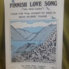 Finnish Love Song Finnish Folk Song Arranged For Piano