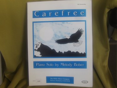 Carefree, by Melody Bober, mid-intermediate piano solo sheet music