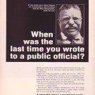 Teddy Roosevelt on 1967 Hammermill Bond Magazine Advertisement