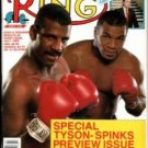 THE RING MAGAZINE MICHAEL SPINKS-MIKE TYSON BOXING HOFers-DONALD TRUMP JULY 1988