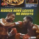 THE RING MAGAZINE FEATURING RIDDICK BOWE BOXING HOFer AND EVANDER HOLYFIELD ON THE COVER MARCH 1993