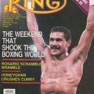 THE RING MAGAZINE EDWIN ROSARIO BOXING HOFer COVER DECEMBER 1986