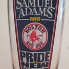"""Rare SAMUEL ADAMS and BOSTON RED SOX Pride of New England 9"""" Pilsner Beer Glass"""