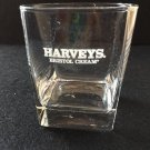 Harveys Bristol Cream Clear Glass Rocks Square Bottom