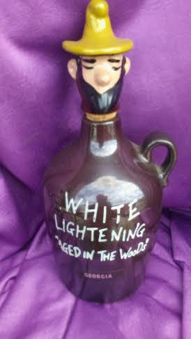 WHITE LIGHTNING JUG HILLBILLY CORK