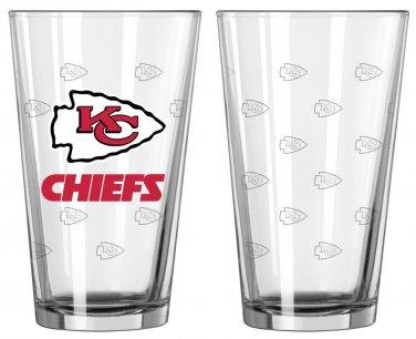 Kansas City Chiefs Satin Etch Pint Glass (1)
