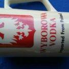 """Vintage Wyborowa Vodka 7"""" Ceramic Mug Pitcher"""