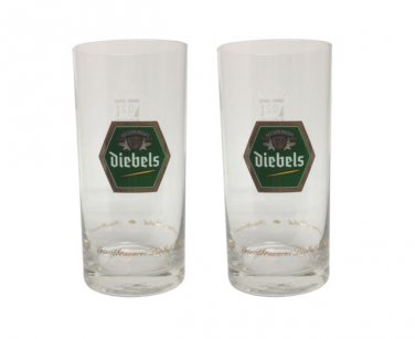 Diebels Alt (Dusseldorf) - 2 German Beer Glasses 0.2 Liter