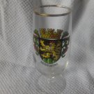 HEIDELBERG Crest Gold Rimmed Beer Glass Germany