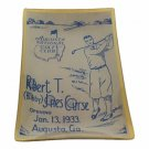 2016 MASTERS AUGUSTA NATIONAL ACCENT GLASS TRAY Bobby Jones 1933