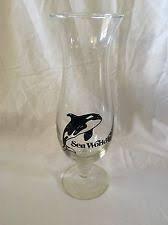 Vintage Sea World Orlando Florida Hurricane Glass Souvenir