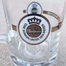 German Bar Ware Warsteiner .5 Liter Heavy Glass Beer Mug Stein Gold