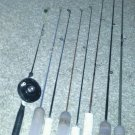 Ice fishing rod bundle lot custom rods fish bait kit holders 1 reel bobber hook
