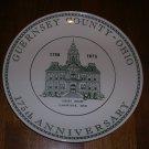 Guernsey County Ohio 175 Anniversary Commemorative Plate 1973 Cambridge Court House