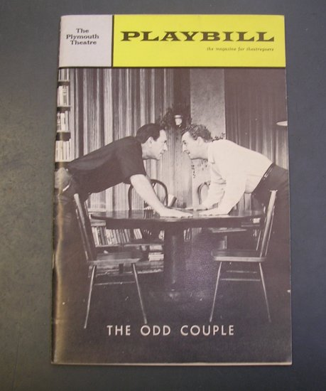 Playbill Magazine Jan 66 The Odd Couple - Jack Klugman