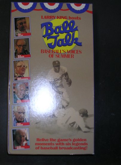 Ball Talk Baseball's Voices of Summer VHS tape