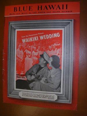 Blue Hawaii Vintage Sheet Music 1937 Bing Crosby, Shirley Ross