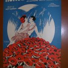 Honolulu Moon Vintage Sheet Music by Fred Lawrence 1926