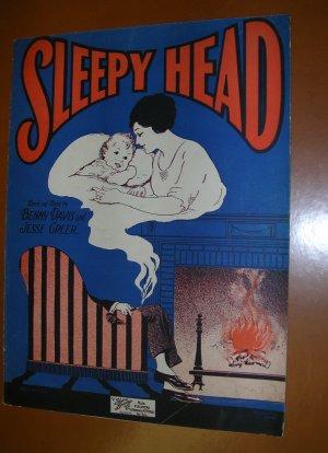 Sleepy Head Vintage Sheet Music 1926 illus by Starmer