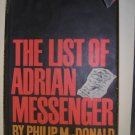 The List of Adrian Messenger by Philip MacDonald BOMC edition 1959