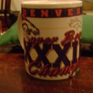 Denver Broncos Super Bowl XXXII Champs Cup Mug 1998