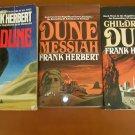 Dune Chronicles by Frank Herbert, 1st Three Books Paperback