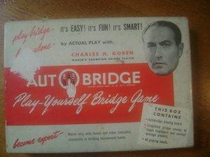 Vintage Charles Goren AutoBridge Play Yourself Bridge Game 1950