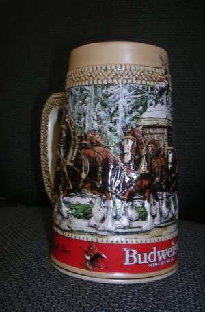 Budweiser Collector's Series Beer Mug Series C 1987