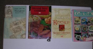 Cookbooks; Ketchup, Ground Beef, Richard Simmons & Roaster Oven 1 Lot