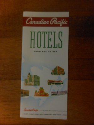 Canadian Pacific Hotels Brochure 1961
