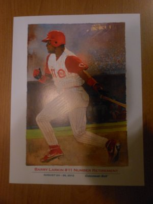 Cincinnati Reds Barry Larkin #11 Number Retirement Illustration