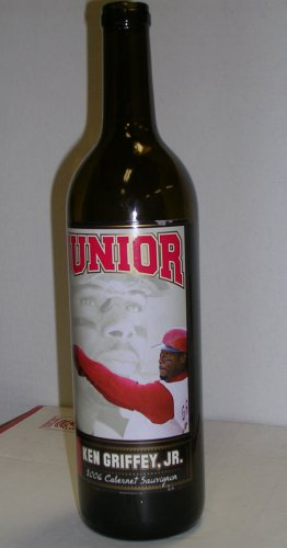 Ken Griffey Jr. Junior Wine Bottle, empty