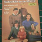 Vintage Knitting Patterns Family Cardigans Pullovers Chest Sizes 19 - 50 Inches