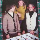 1970s Knitting & Crochet Patterns Childrens Sweaters 8 10 12 14 Preteen