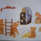 New Elizabeth Stuart Craft Kit Teddy Bear Mischief Cross Stitch Embroidery 9516