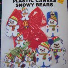 Vintage Plastic Canvas Patterns Winter Snowy Bears Ornaments Garland Wall Decor 108