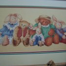 Dimensions Cross Stitch Pattern Old Friends Country Bunny Rabbits & Teddy Bears 176