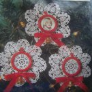 New Easy To Make Pre Made Doily Christmas Ornaments Kit Mini Photo Frames Bells 142