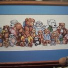 Vintage Embroidery Cross Stitch Pattern Stuffed Teddy Bear Reunion Picture 918