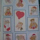 38 Cross Stitch Patterns Angels Bears Snowmen Stocking Dolls Rabbits Book 76