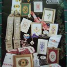 16 Country Cross Stitch Patterns Beaded Favorites Book 92 Flowers Hummingbird