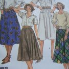 1980s Uncut Vintage Sewing Pattern Skirts Full Gathered Pockets Sz 10 2004