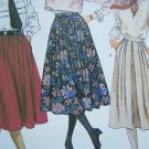 "Uncut Misses Vintage Skirts 27 & 30"" Length Sewing Pattern McCall's 2265 Sz 12"