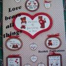 21 Vintage Cross Stitch Patterns Country Bears Samplers Sayings Dale Burdett DB - 38