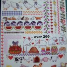 200 Vintage Cross Stitch Patterns Learn TO Design Borders Floral Kitchen Cat Sheep