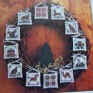 Vintage Prairie Schooler Cross Stitch Patterns Prairie Christmas Ornaments Book 10