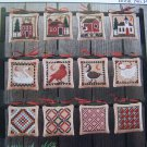 Vintage Prairie Schooler Cross Stitch Patterns Holiday Homestead Christmas Ornaments Book 14