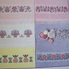 Prairie Schooler Cross Stitch Patterns Designer Series VINTAGE Pastel Borders Towels
