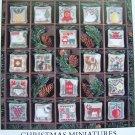 VTG Prairie Schooler Cross Stitch Pattern Primitive Christmas Miniatures 29 Embroidery