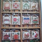 Rustic Prairie Schooler Cross Stitch Pattern A Prairie Year Book 13 Primitive Christmas Ornaments